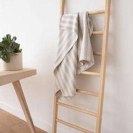 Badehåndklæder i hør, 4 stk., naturfarvede, Lucas