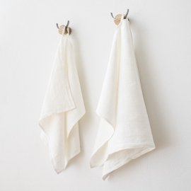 Håndklæder i hør, hvide, Lucas