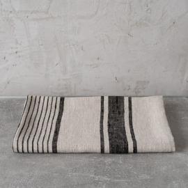 Sæt af håndklæder med sorte striber, Provence