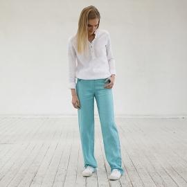Bukser i hør, aqua, Alma