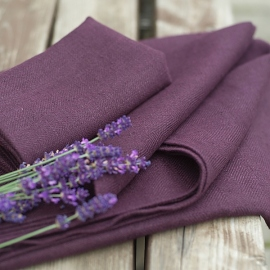 Sæt af badehåndklæder, aubergine, Lara