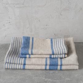 Sæt af håndklæder med blå striber, Provence