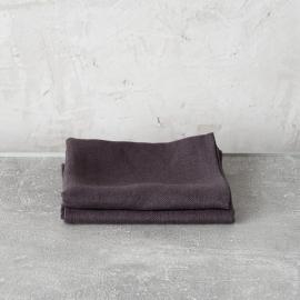 Håndklæder i hør, grå, 2 stk., Lara