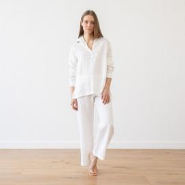 Pyjamas i hør, hvide, Alma