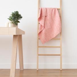 Badehåndklæde i hør, rødt, Francesca