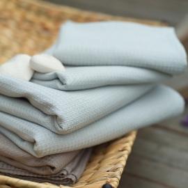 Håndklæde og gæstehåndklæde, sølv, Wafer