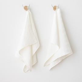 Håndklæder i hør, off white, 2 stk., Lara