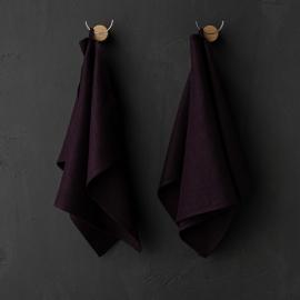 Badehåndklæde-sæt i hør, birkefarvet, Francesca