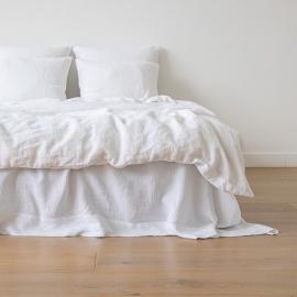 Badehåndklæde i hør, sort, stribet