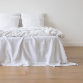 Dynebetræk i 100% hør, hvidt, forvasket