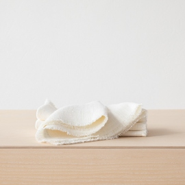 Hvid serviet i hør, Rustic