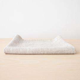 Badehåndklæde i hør, birkefarvet, Francesca