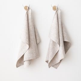 Håndklæder i hør, birk-farvede, Francesca