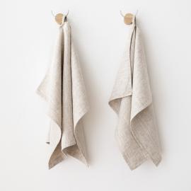 Sæt af håndklæder i hør, naturfarvet, Provence