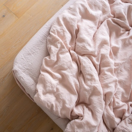 Boxlagen i hør, lyserødt, stenvasket