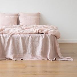 Dynebetræk i hør, lyserødt, stenvasket