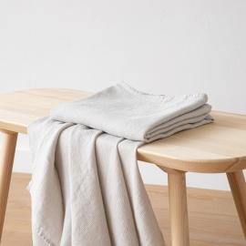 Badehåndklæde i Hør Sølv Wafer