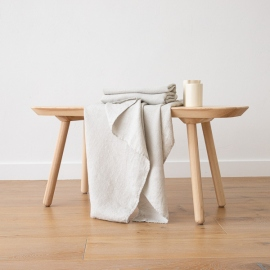 Badehåndklæde i hør, sølv, Wafer