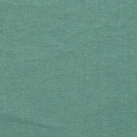 Hørstof til sengetøj eller bordduge, aloe-grønt