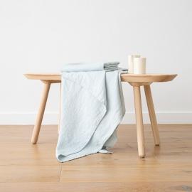 Badehåndklæde af hør, isblåt, forvasket, Waffle