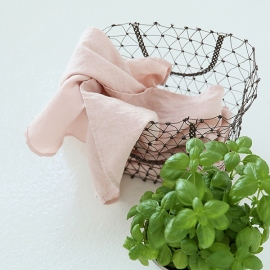 Viskestykker, 2 stk., lyserøde, stenvaskede