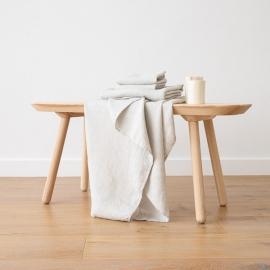 Badehåndklæde og Håndklæde i Hør Sølv Forvaskede Waffle