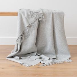 Plaid i baby alpaca uld, sølv, Bella