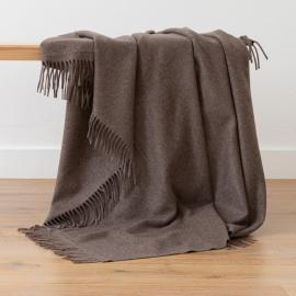 Plaid i baby alpaca uld, brun, Bella Square