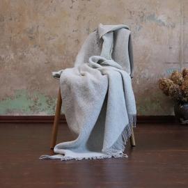 Plaid i uld, sølv, Sergio