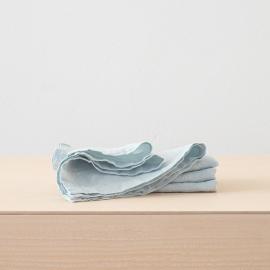Serviet i hør, isblå, stenvasket
