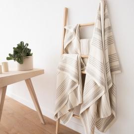 Håndklæder i hør, 4 stk., cremefarvet, Linum