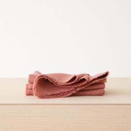 Stofserviet i hør, lyserød, Rustic