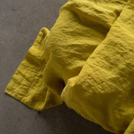 Lagen i hør, citron-farvet, stenvasket