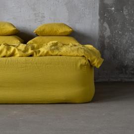Boxlagen i hør, gult, stenvasket
