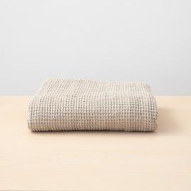 Badehåndklæde i hør, naturfarvet, forvasket, Waffle