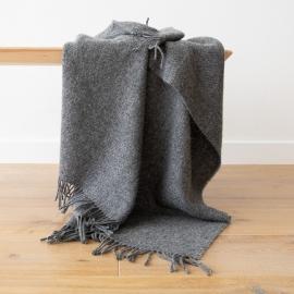 Plaid i 100% uld, grå, Paula