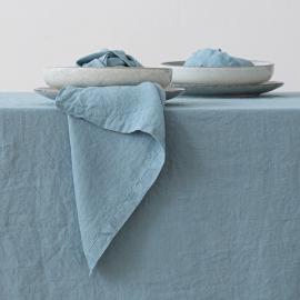 Serviet i hør, Stone Blue, stenvasket