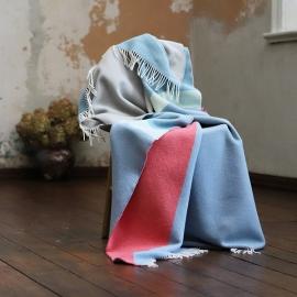 Plaid i merino uld, Marco, stone blue