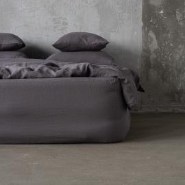 Boxlagen i hør, forvasket, Steel Grey