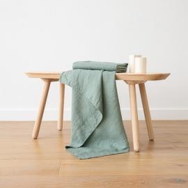Badehåndklæde i Spa Grønt Forvasket Waffle