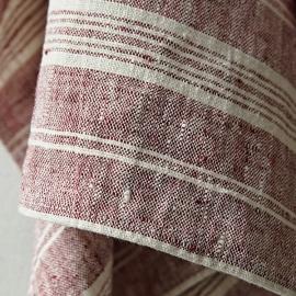 Håndklæder i hør, 2 stk., Cherry Multistripe