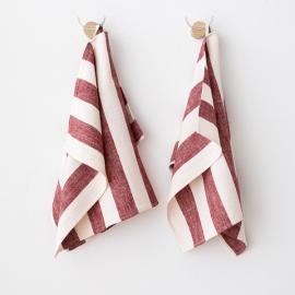 Sæt med Håndklæde & Gæstehåndklæde i hør, Cherry Philippe
