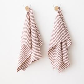 Håndklæder i hør, 2 stk., Cherry Brittany