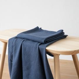 Badehåndklæde i Hør Forvasket Indigo Waffle