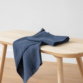 Sæt med 2 stk. håndklæder, Indigo, Waffle