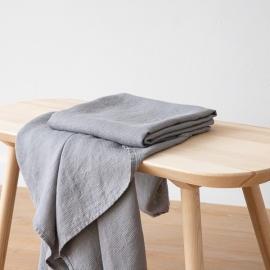 Badehåndklæde i hør, forvasket, Graphite, Waffle