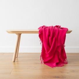 Plaid i babyalpakauld, lyserød, Bella