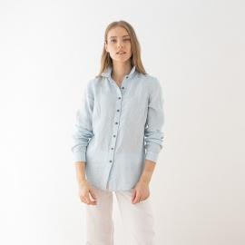 Skjorte i hør, himmelblå, Melange Ernesto