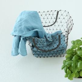 Viskestykker-sæt, 2stk., blå, stenvaskede