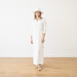 Kjole i linned, hvid, Dona